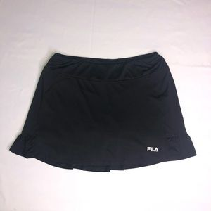 Fila Black Ruffle Tennis or Golf Skort